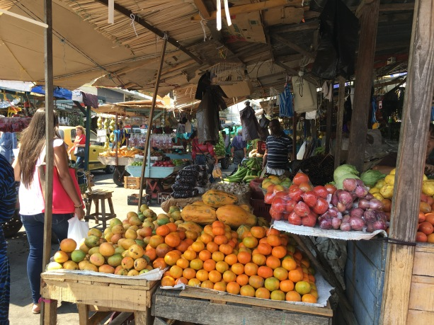 Shopping fruit and vegetables in the center. Barranquilla