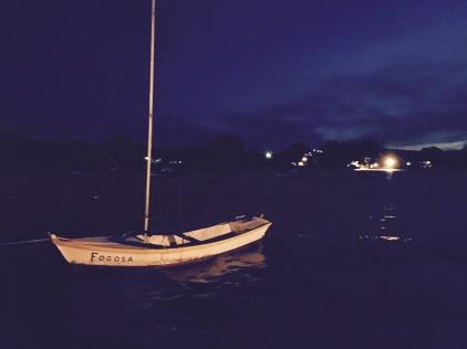 Praia da barra. Fishing boat. funny name