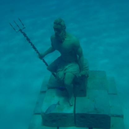 Underwater Poseidon. San Andrés